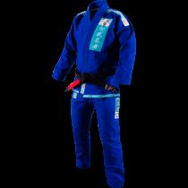 Shinju Pearl Weave Female Jiu Jitsu Gi - Blue